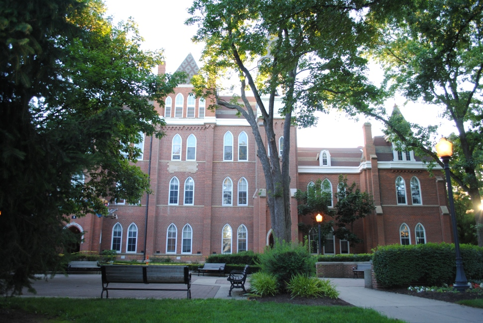 """""""Towers Hall Otterbein"""" by Wdzinc is licensed under CC BY-SA 3.0"""